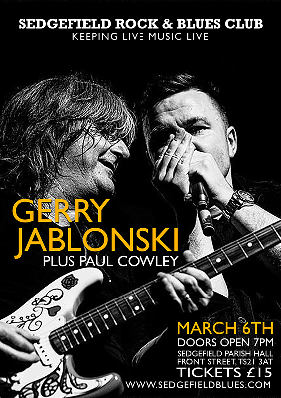 Gerry Jablonski and Paul Cowley at Sedgefield Blues Club Friday 6th March 2020