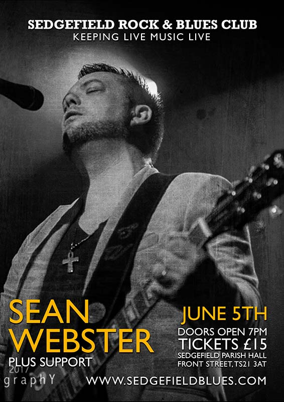 Sean Webster at Sedgefield Blues Club Friday 5th June 2020